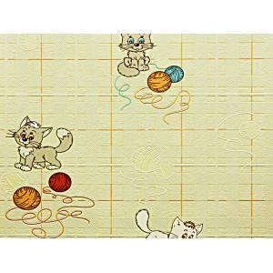 C742-02 В53.4 Славянские обои Котята - желтые