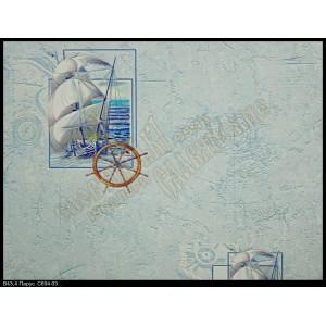 C694-03 В43.4 Славянские обои Парус - голубые