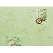 C694-04 В43.4 Славянские обои Парус - зеленые